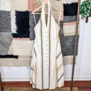 Free People Striped Halter Midi Dress